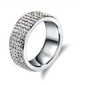 Jewelry - Crystal Stainless Steel Ring